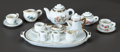 Ceramics & Porcelain, PAIR OF MINIATURE PORCELAIN SERVICE DE POUPÉE. THE RENOIR COLLECTION. ... (Total: 16 Items)