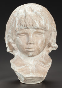PIERRE-AUGUSTE RENOIR (French, 1841-1919) Buste de Coco, 1907-08 Original plaster 11 inches (27.9