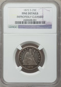Seated Quarters, 1872-S 25C -- Improperly Cleaned -- NGC Details. Fine....