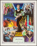 "Movie Posters:Adventure, Buster Crabbe as Flash Gordon Artist Proof Poster (NostalgiaMerchant, 1977). Autographed Artist Proof Poster (24"" X 30""). M..."