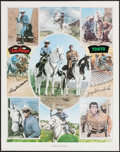 """Movie Posters:Western, The Lone Ranger (Clayton Moore and Jay Silverheels) (Nostalgia Merchants, 1977). Autographed Print (24"""" X 30""""). Western.. ..."""