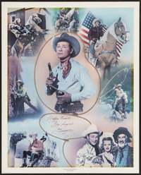 "Roy Rogers Print (Nostalgia Merchant, 1977). Autographed Personality Poster (24' X 30""). Western"