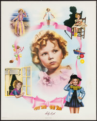 "Shirley Temple Print (Nostalgia Merchants, 1977). Autographed Personality Poster (24"" X 30""). Miscellaneous..."