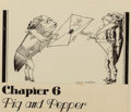 Mainstream Illustration, WILLY POGANY (Hungarian/American, 1882-1955). Alice's Adventuresin Wonderland, Pig and Pepper, Chapter 6 chapterhead illu...