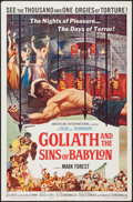 "Movie Posters:Adventure, Goliath and the Sins of Babylon (American International, 1964). OneSheet (27"" X 41"") & Photos (27) (8"" X 10""). Adventure.. ...(Total: 28 Items)"
