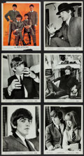 "Movie Posters:Rock and Roll, A Hard Day's Night (United Artists, 1964). Photos (9) & Advertisement (8"" X 10""). Rock and Roll.. ... (Total: 10 Items)"
