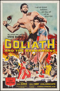 "Movie Posters:Adventure, Goliath and the Barbarians (American International, 1959). OneSheet (27"" X 41""). Adventure.. ..."