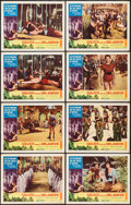 """Movie Posters:Adventure, Goliath and the Sins of Babylon (American International, 1964).Lobby Card Set of 8 (11"""" X 14""""). Adventure.. ... (Total: 8 Items)"""