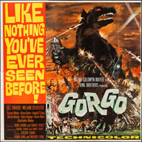 """Gorgo (MGM, 1961). Six Sheet (79"""" X 79"""") & Heralds (4) (4 Pages,11"""" X 17""""). Science Fiction..."""