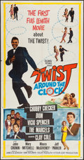 "Movie Posters:Rock and Roll, Twist Around the Clock (Columbia, 1961). Three Sheet (41"" X 79"").Rock and Roll.. ..."