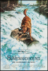 """Homeward Bound: The Incredible Journey & Others Lot (Buena Vista, 1993). One Sheets (5) (27"""" X 40"""") DS..."""
