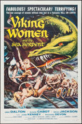 "Movie Posters:Fantasy, Viking Women and the Sea Serpent (American International, 1957). One Sheet (27"" X 41"") Flat Folded. Fantasy.. ..."