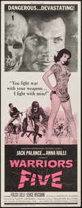 """Movie Posters:War, Warriors 5 & Other Lot (American International, 1962). Inserts(2) (14"""" X 36""""). War.. ... (Total: 2 Items)"""