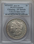 Morgan Dollars, 1878 8TF $1 Vam-14.5, Open Nostril -- Cleaned -- PCGS Genuine. XFDetails. Hot-50. NGC Census: (0/0). PCGS Population (7/2...