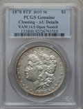 Morgan Dollars, 1878 8TF $1 Vam-14.5, Open Nostril -- Cleaned -- PCGS Genuine. AUDetails. Hot-50. NGC Census: (0/0). PCGS Population (5/1...