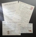 Other:European, ALINE RENOIR DEATH RELATED DOCUMENTS. THE RENOIR COLLECTION. ...(Total: 4 Items)