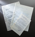 Other:European, THREE LETTERS FROM PAUL GACHET, JR. TO JEAN RENOIR. THE RENOIRCOLLECTION. ... (Total: 3 Items)
