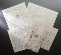 TWENTY-FOUR HANDWRITTEN LETTERS FROM FRIENDS AND FAMILY TO ALINE CHARIGOT RENOIR  THE RENOIR COLLECTION