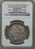 Morgan Dollars, 1891 $1 Doubled Die Obverse Ear, Vam-2A, Moustache EDS -- ObverseImproperly Cleaned -- NGC Details. XF. Top-100. NGC Cens...