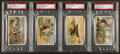 "Non-Sport Cards:Lots, 1887 N99 Duke/Gail & Ax ""Battle Scenes"" PSA Graded Group (4). ..."