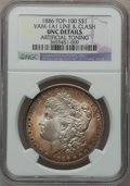 Morgan Dollars, 1886 $1 Vam-1A1, Line & Clash -- Artificially Toned -- NGCDetails. Unc. Top-100. PCGS Population (1/16...