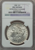 Morgan Dollars, 1888 $1 -- Improperly Cleaned -- NGC Details. Unc. . From TheParcfeld Collection....