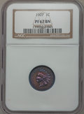 Proof Indian Cents, 1907 1C PR67 Brown NGC....