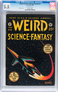 Golden Age (1938-1955):Science Fiction, Weird Science-Fantasy Annual #2 (EC, 1953) CGC FN- 5.5 Off-whitepages....