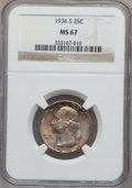 Washington Quarters, 1936-S 25C MS67 NGC....