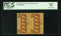 Fractional Currency:First Issue, Fr. 1281 25¢ First Issue Vertical Pair PCGS About New 53.. ...