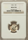 Mercury Dimes: , 1942 10C MS67 Full Bands NGC. NGC Census: (223/1). PCGS Population(158/4). Mintage: 205,432,336. Numismedia Wsl. Price for...