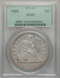 Seated Dollars, 1868 $1 XF45 PCGS....