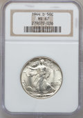 Walking Liberty Half Dollars: , 1944-D 50C MS67 NGC. NGC Census: (216/1). PCGS Population (207/0).Mintage: 9,769,000. Numismedia Wsl. Price for problem fr...