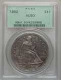 Seated Dollars, 1853 $1 AU50 PCGS....