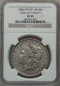 Morgan Dollars, 1880/79 $1 Vam-23, 9 Atop 0 XF45 NGC. Top-100. NGC Census: (0/0).PCGS Population (17/48).. From The Parcfeld Collection...