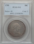 Early Half Dollars, 1795 50C 2 Leaves Fine 12 PCGS. O-110, R.3....