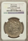 Morgan Dollars, 1891-CC $1 -- Improperly Cleaned -- NGC Details. VF. NGC Census:(17/8182). PCGS Population (39/13810). Mintage: 1,618,000....