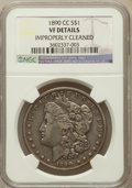 Morgan Dollars, 1890-CC $1 -- Improperly Cleaned -- NGC Details. VF. NGC Census:(69/5656). PCGS Population (102/10176). Mintage: 2,309,041...