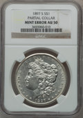 Morgan Dollars, 1897-S $1 -- Partial Collar -- AU50 NGC. . From The ParcfeldCollection....