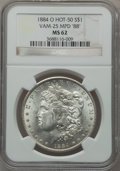 "Morgan Dollars, 1884-O $1 Vam-25, Multiple Punched Date ""88"" MS62 NGC. Hot-50. NGCCensus: (0/0). PCGS Population (21/27).. From The Par..."