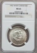 Commemorative Silver, (2)1952 50C Washington-Carver MS65 NGC. ... (Total: 2 coins)