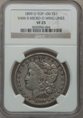 Morgan Dollars, 1899-O $1 Vam-5, Micro O Wing Lines VF25 NGC. Top-100. NGC Census:(0/0). PCGS Population (1/64).. From The Parcfeld Col...
