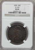 Bust Half Dollars: , 1835 50C XF45 NGC. O-103. NGC Census: (98/617). PCGS Population(117/559). Mintage: 5,352,006. Numismedia Wsl. Price for p...