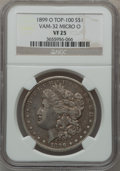 Morgan Dollars, 1899-O $1 Vam-32, Micro O VF25 NGC. Top-100. NGC Census: (0/0).PCGS Population (5/44).. From The Parcfeld Collection....