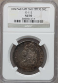 Bust Half Dollars: , 1834 50C Small Date, Small Letters AU50 NGC. O-112. PCGS Population(115/487). ...