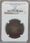 Early Half Dollars: , 1807 50C Draped Bust Good 6 NGC. O-103a. NGC Census: (18/1675).PCGS Population (23/1248). Mintage: 301,076. Numismedia Ws...