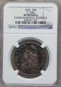 Bust Half Dollars: , 1826 50C -- Environmental Damage -- NGC Details. XF. O-108a. NGCCensus: (66/1317). PCGS Population (188/1418). Mintage: 4...