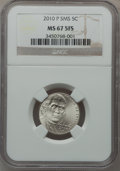 Jefferson Nickels, 2010-P 5C SMS MS67 5 FS NGC. PCGS Population (94/0)....