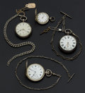 Timepieces:Pocket (pre 1900) , A Lot Group Of Four Silver Swiss Pocket Watches. ... (Total: 4Items)