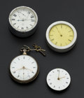Timepieces:Other , A Lot Of Four Rare Pocket Watch Movements. ... (Total: 4 Items)